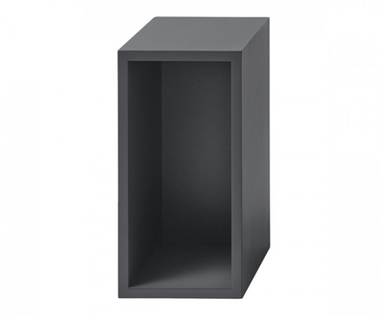 MUUTO Stacked Modul Small med Bagbeklædning Dark Grey