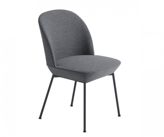 Muuto Oslo Side Chair - Ocean 80/Anthracite Black