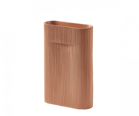 Muuto Ridge Vase - Terracotta - Small
