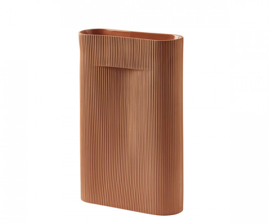 Muuto Ridge Vase - Terracotta - Large