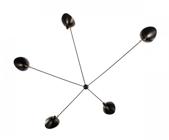 Serge Mouille wall Lamp 5 Spider