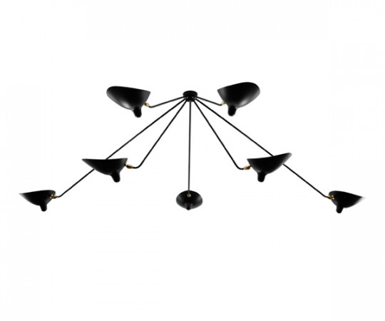 Serge Mouille Ceiling Lamp 7 Spider