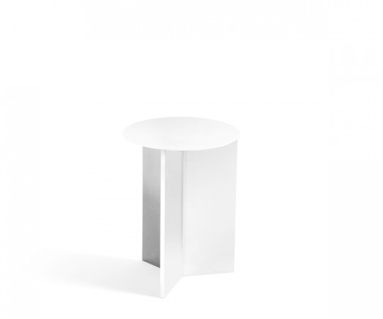 HAY Slit Table - Round - High - White