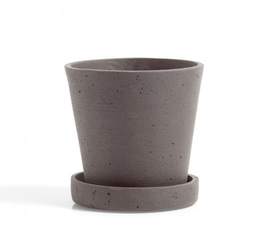 HAY Flowerpot with Saucer - plum - Small